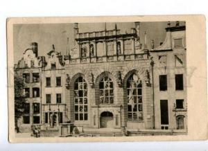 174159 POLAND GDANSK Ruiny Dworu Artusa Vintage RPPC to RUSSIA