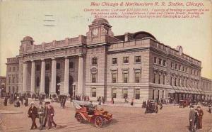 Illinois Chicago New Chicago & Northwestern R R Station 1911