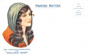 Colleen Soap Non Postcard Backing Advertising Unused
