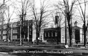 Franklinville New York Central School Real Photo Antique Postcard K53047