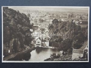 Somerset CHEDDAR Birds Eye View from Lion Rock - Old Postcard