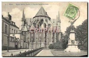 Postcard Old Holy Church Mons Vaudru Square and Saint Germain