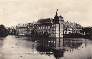 Netherlands Den Haag Hofvijer met Regeringsgebouwen Real Photo