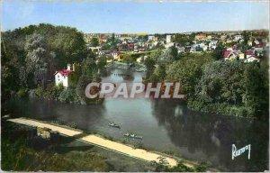 Old Postcard Images of France Nogent sur Marne Seine general view on the smal...