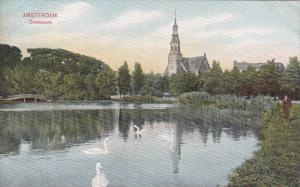 AMSTERDAM, Noord-Holland, Netherlands, 1900-1910's; Oosterpark, Swans