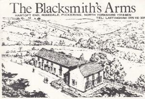 The Blacksmiths Arms Rosedale Pickering Vintage Yorkshire Advertising Postcard