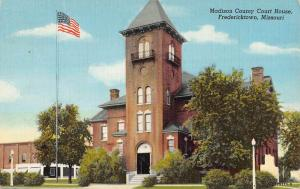 Fredericktown Missouri Madison Court House Street View Antique Postcard K71546