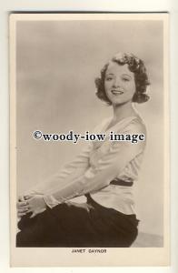 us0057 - Film Actress - Janet Gaynor - postcard plain back