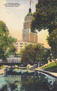 Texas San Antonio Transit Tower From San Antonio River