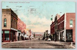 Pocatello Idaho~Center Street~Gate City Furniture~Hardware~Fargo Co~1907 PC