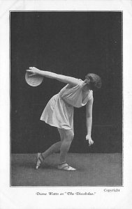 Sports, Misc. Postcard Daiana Watts as The Discobolus. Unused