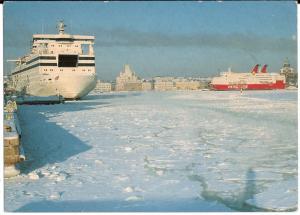 Cruise Ships - Helsinki Harbor - Post Card - Unused