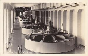 Powerhouse at Bonneville Dam Oregon Real Photo