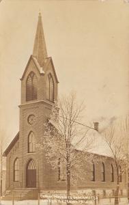 Greenwood WI German Reformed Church~Immanuel UCC RPPC c1918 Zemilicka~Highland