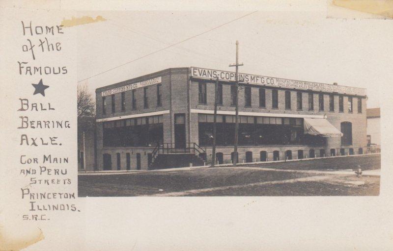 RP: PRINCETON , Illinois , 00-10s ; Evans-Coppins MF'G Company