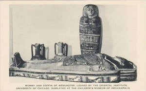 Indiana Indianapolis Mummy And Coffin Of Wenuhotep Loaned By University Of Ch...