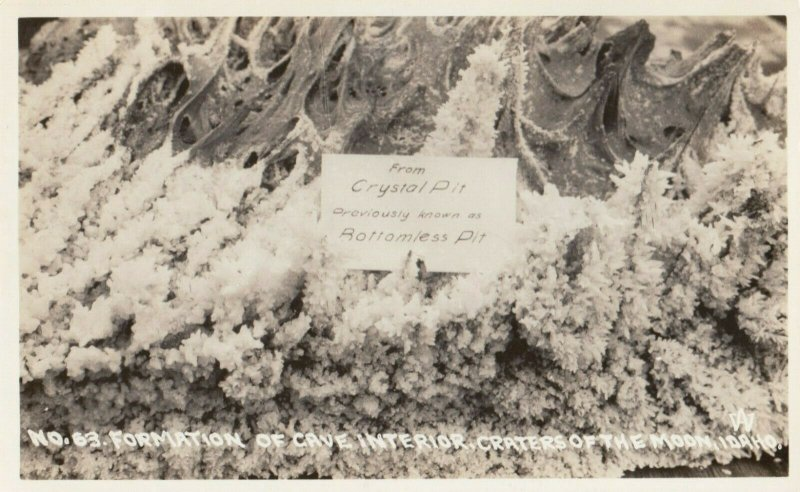 RP: Craters of the Moon , Idaho , 1930-40s ; Crystal Pit