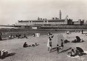 RP, Cherbourg (Manche), France, 1920-1940s ; La Plage et la Gare Maritime