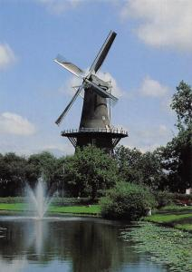Netherlands Leiden, Molen De Valk Mill Moule Statue Fountain