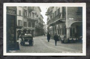 dc645 - LUGANO Switzerland 1920s Via Nasso. Ticino. Real Photo Postcard
