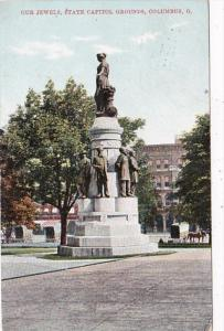 Ohio Columbus Our Jewels Statue Stae Capitol Grounds 1908