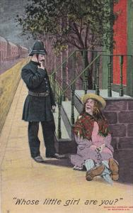 Whose little girl are you? Police officer and hobo, PU-1909