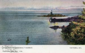 Canada - British Columbia, Victoria. Entrance to Esouimalt Harbor, Lighthouse