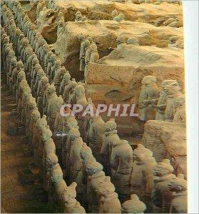 Postcard Modern Pit No.1 Qin Shihuang's Terracotta Warriors Horses