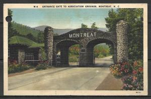 North Carolina, Montreat - Entrance Gate To Association Grounds
