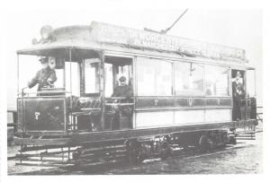 Oldham Postcard Early Electric Tram c1910 Lancashire Reproduction Card Q55