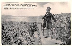 Civil War Post Card Old Vintage Antique Postcard Lincoln Delivering the Getty...