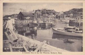 A Summer Day At The Old Wharves, Rockport, Massachusetts, PU-1949