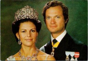 HM King Carl XVI Gustaf & HM Queen Silvia Unused Lennart Nilsson Postcard F20