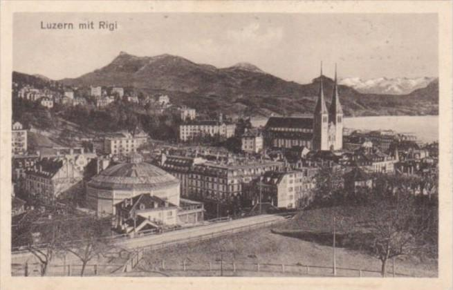 Switzerland Luzern mit Rigi