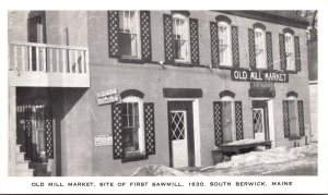 Maine South Berwick Old Mill Market Site Of First Sawmill 1630