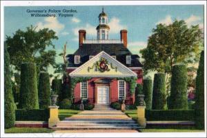 Governor's Palace, Garden, Williamsburg VA