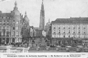 Belgium Antwerpen Tijdens de Duitsche Bezetting, Kathedraal Strasse