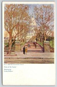 Washington DC~Dome of the Capitol~Lesley Jackson Artist Signed~1927 Postcard