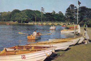 Alton Towers Staffordshire 1970s Rowing Motor Boats Postcard