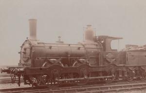 Irish Ireland 0-4-0 Train at Hibernia Station Antique Real Photo Postcard