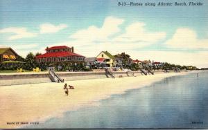 Florida Atlantic Beach Beachfront Homes 1948 Curteich