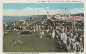 NORFOLK , Virginia , 10-20s ; Section of Amusement Park at Ocean View