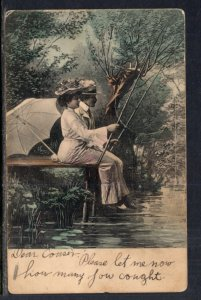 Couple Fishing Romance