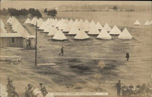 Aldershot Nova Scotia Canadian Military Camp c1910 Real Photo Postcard #2