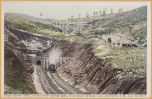 Raton Tunnel on the Santa Fe Route between Trinidad CO & Raton N.M. Fred Harvey