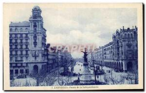 Old Postcard Zaragoza Paseo de la lndependencia