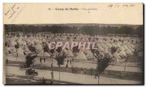 Old Postcard Militaria Camp of Mailly General view