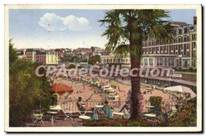 Old Postcard Dinard The Beach And The New Cabins