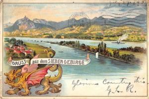 Siebengebirge Germany Scenic View Gruss aus Antique Postcard J42106