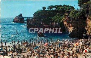 Modern Postcard Biarritz Port Vieux and Rocher de la Vierge